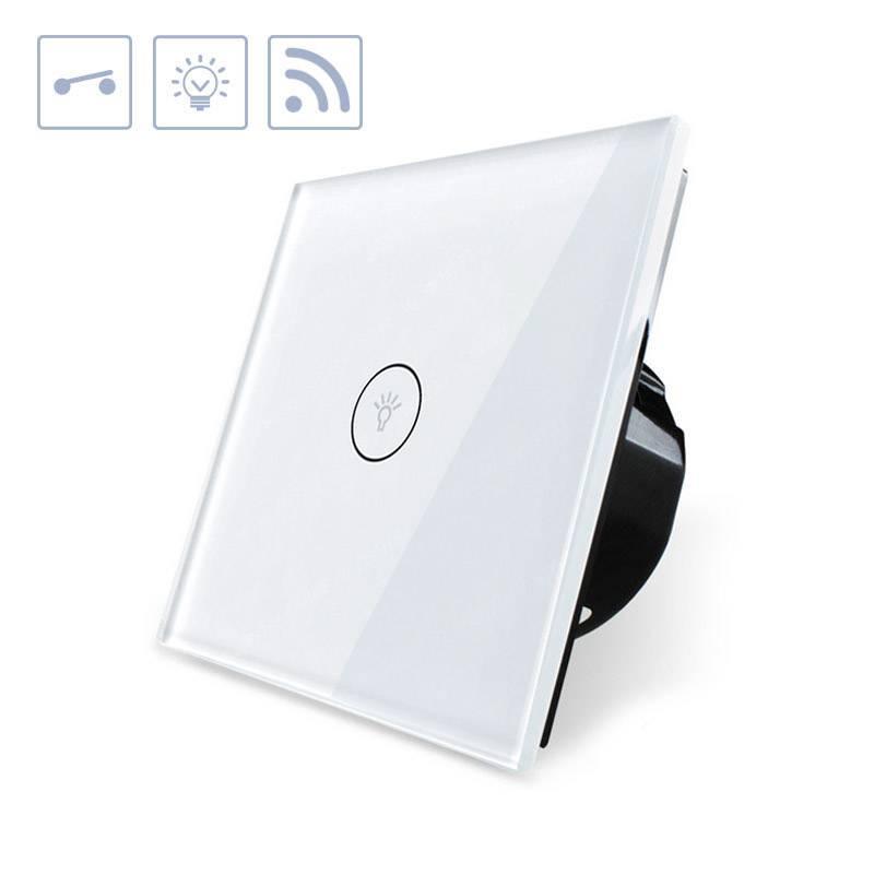 Interruptor táctil WiFI-Voz, branco