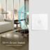 Interruptor táctil doble WiFI-Voz, blanco