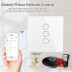 Interruptor táctil con regulador  Dimmer WiFI-Voz, blanco