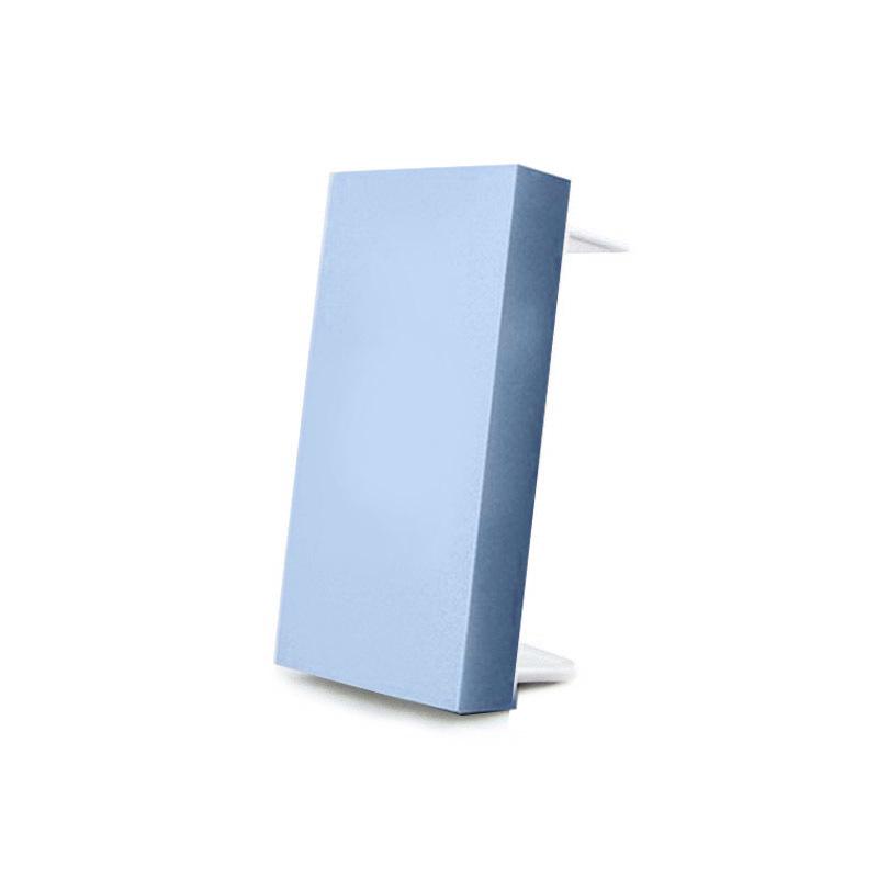 Tapa ciega plástico azul para mecanismos
