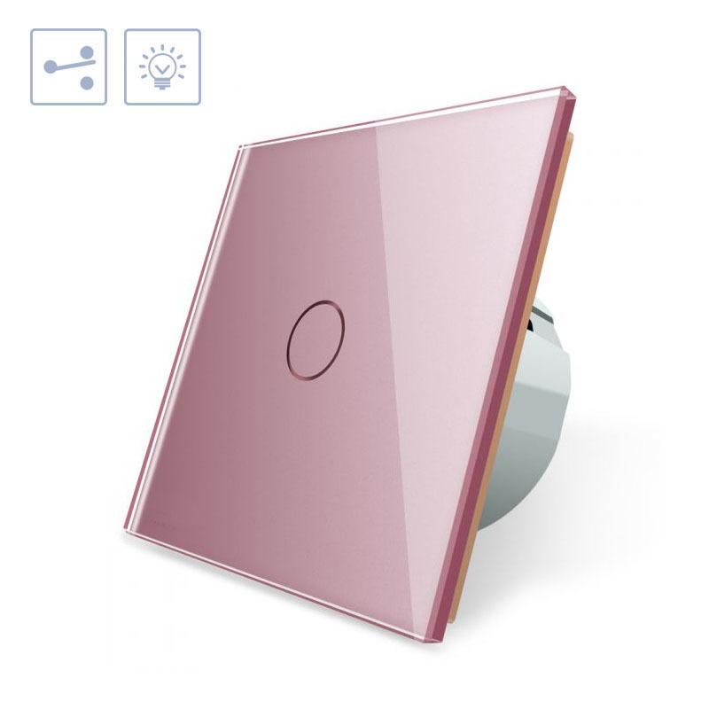 Comutador táctil, frontal rosa