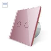 Control de persianas táctil, frontal rosa