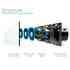 Interruptor táctil 6 botones, frontal azul