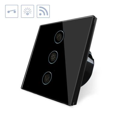 Interruptor táctil con regulador  Dimmer WiFI-Voz, negro