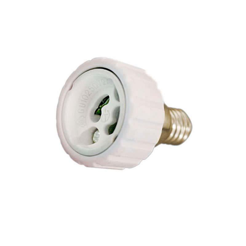 Adaptador / conversor para bombillas GU10 a E14
