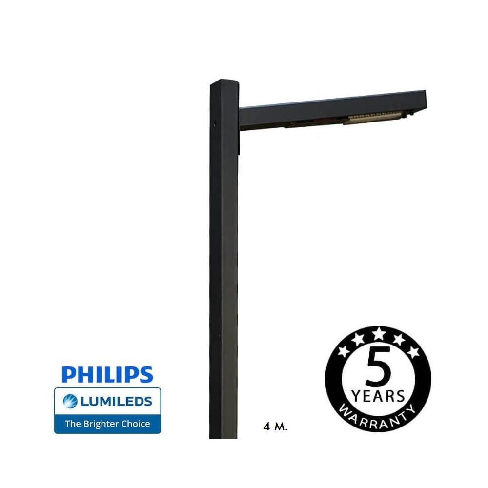 Luminária LED SKOG 50W Chipled Philips Lumileds, 4m