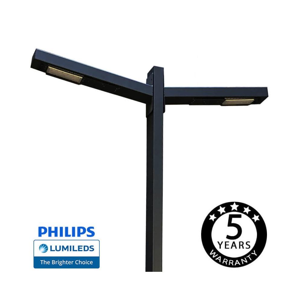 Luminária LED SKOG 100W Chipled Philips Lumileds, 6m