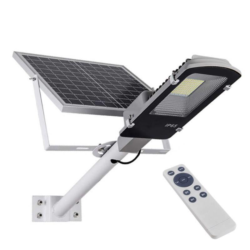 Farola LED Solar URBAN 100W + Mando a distancia, Blanco frío