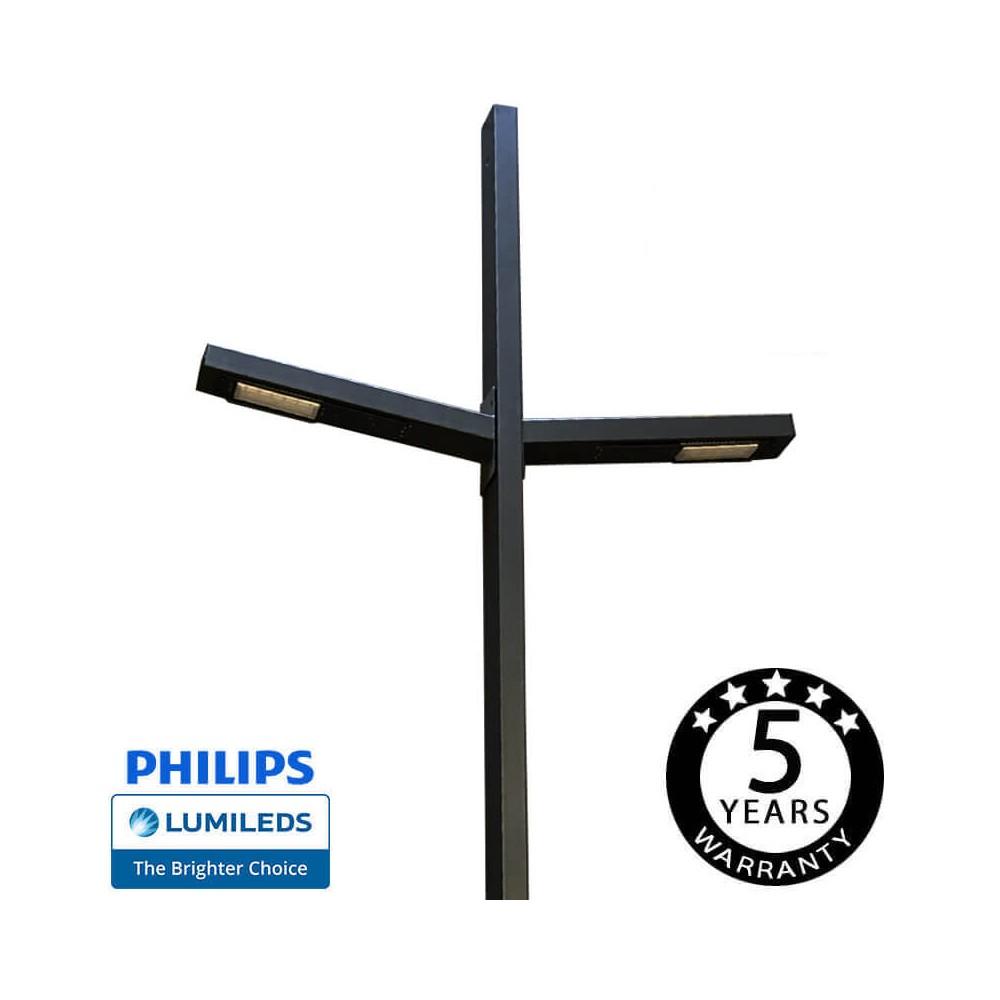 Luminária LED BLAD 100W Chipled Philips Lumileds, 4m