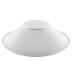 Reflector aluminio 120º para lâmpada industrial, Ø215mm, branco