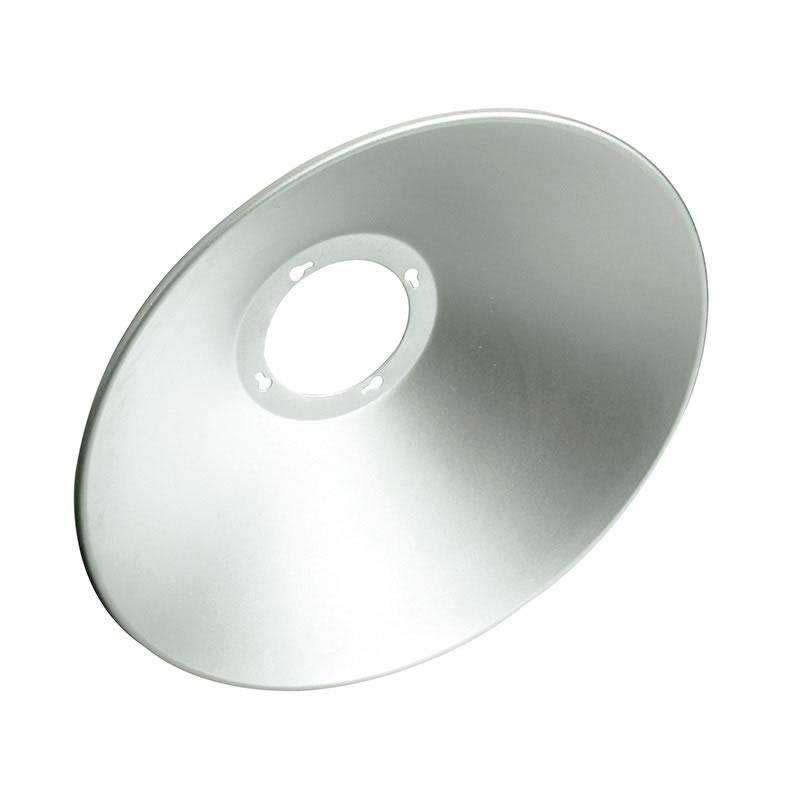 Reflector aluminio 90º para lámpara industrial, Ø220mm