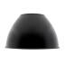 Reflector aluminio 60º para lámpara industrial, Ø174mm, negro