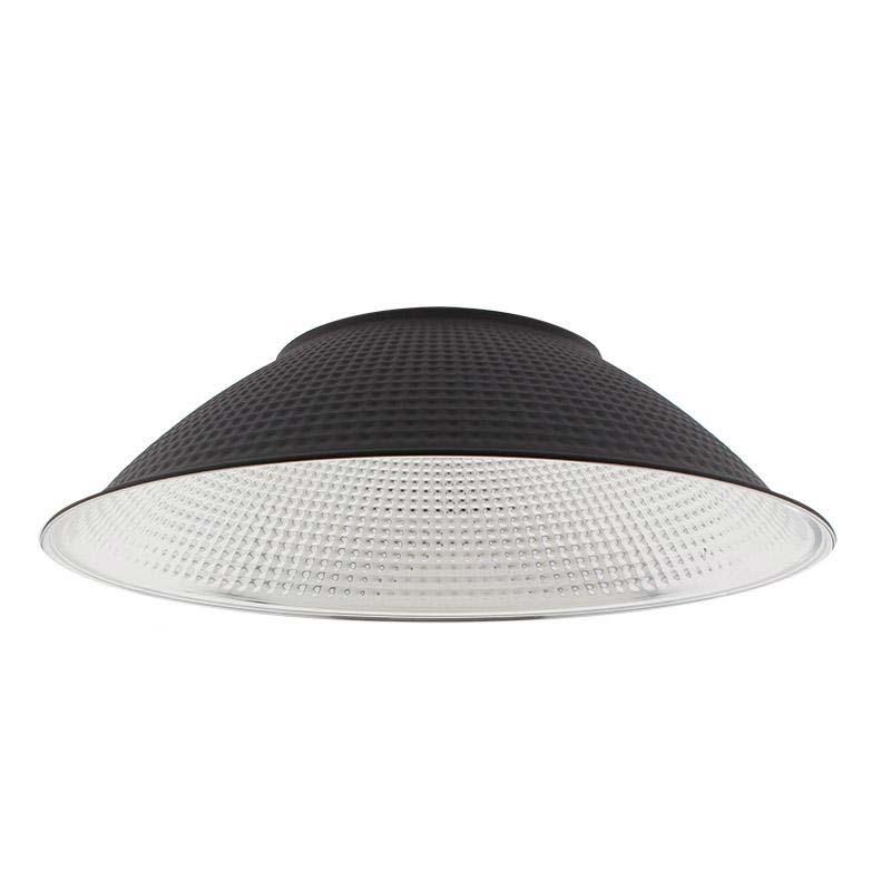 Reflector aluminio 120º para lámpara industrial, Ø174mm, negro