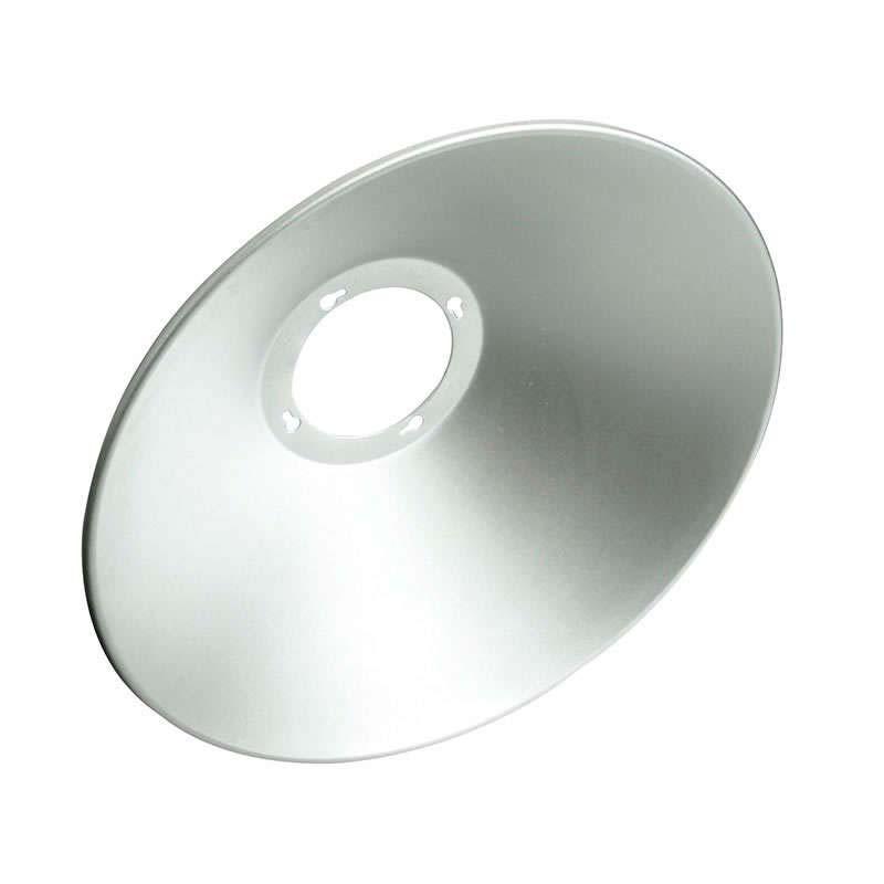 Reflector aluminio 120º para campana industrial, Ø142mm