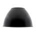 Reflector aluminio 60º para lámpara industrial, Ø215mm, negro