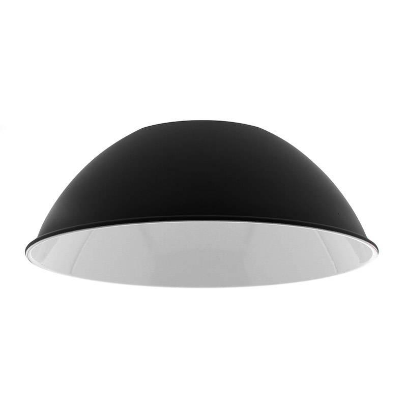 Reflector aluminio 90º para lámpara industrial, Ø215mm, negro