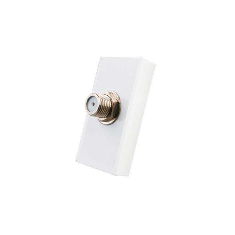 Conector  SAT blanco para mecanismo de empotrar