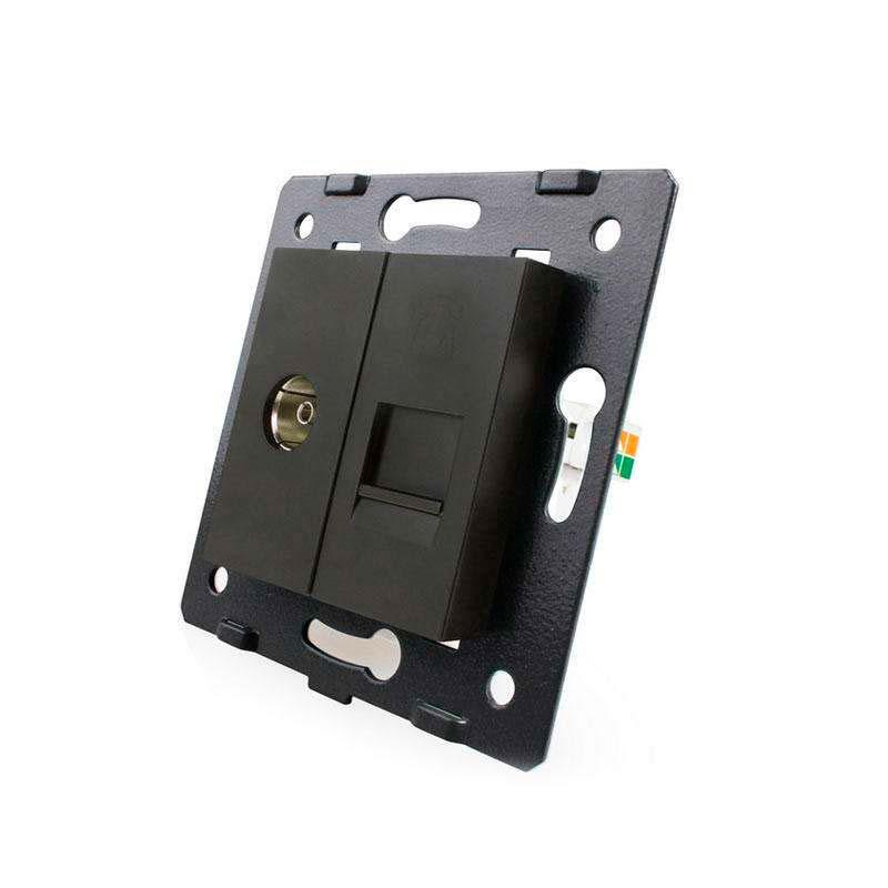 Base TV + Teléfono RJ11, negro