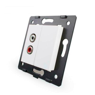 Mecanismo de empotrar Audio RCA, blanco