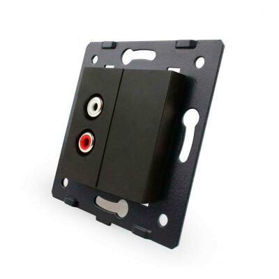 Mecanismo de empotrar Audio RCA, negro