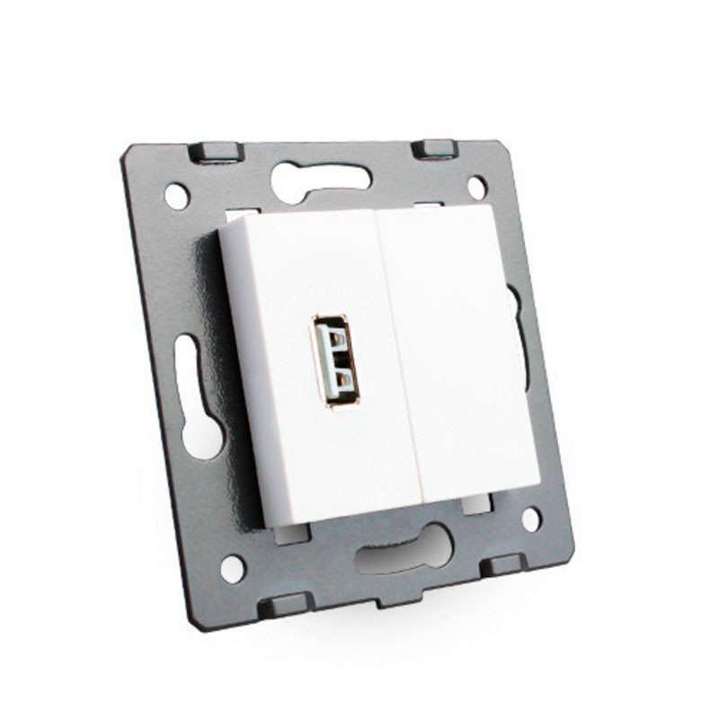 Base enchufe usb blanco ledbox - Enchufe con usb ...
