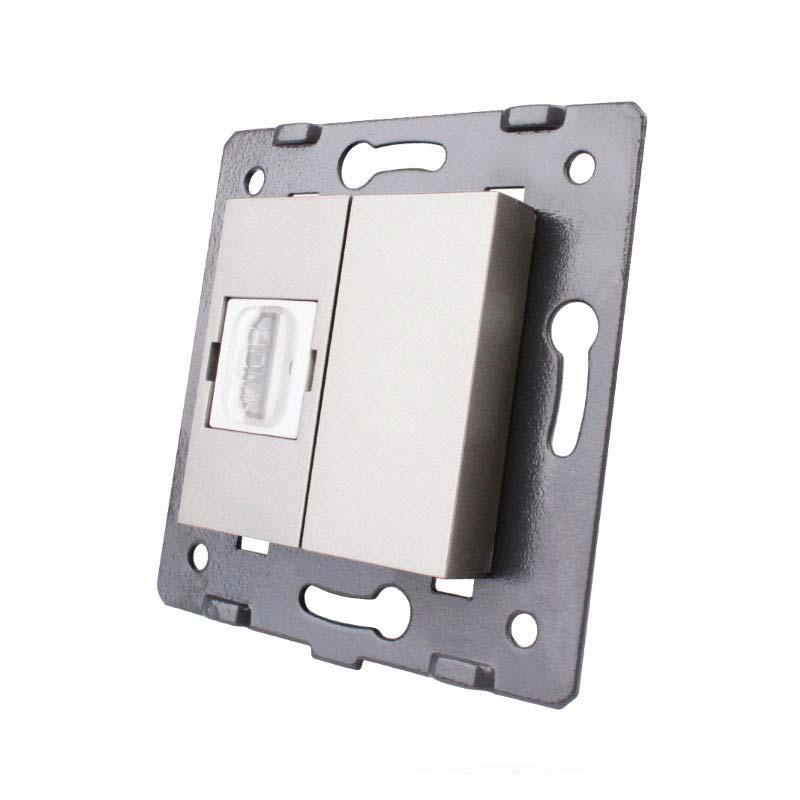 Mecanismo de empotrar HDMI, gris
