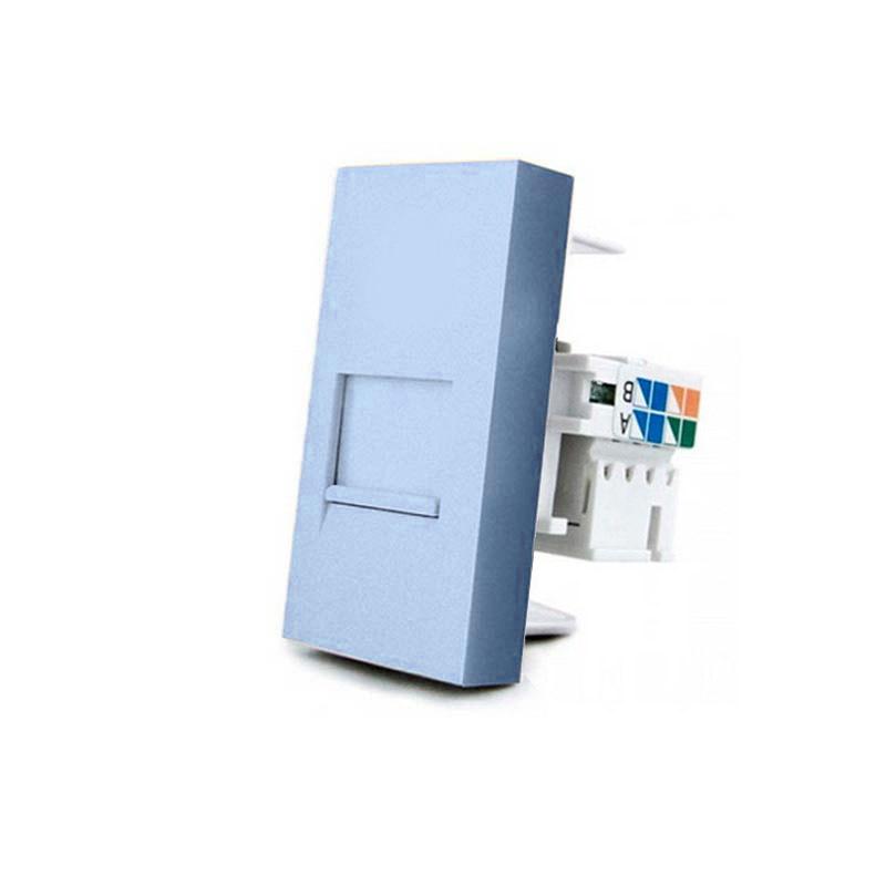 Conector Red RJ45 azul para mecanismo de empotrar