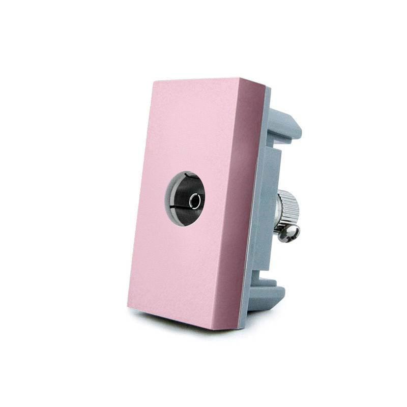 Conector TV rosa para mecanismo de empotrar