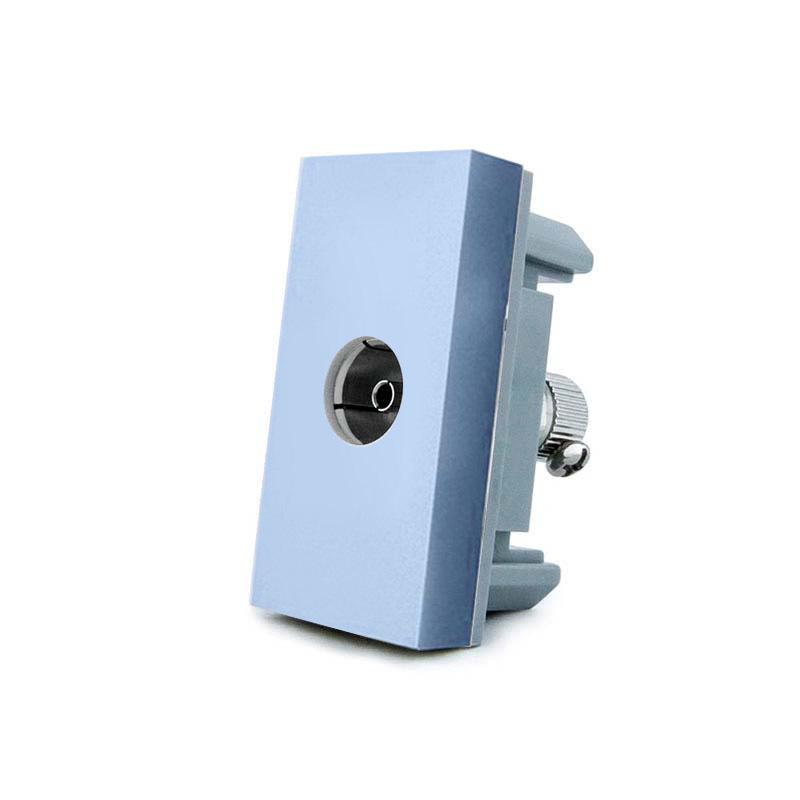 Conector TV azul para mecanismo de empotrar