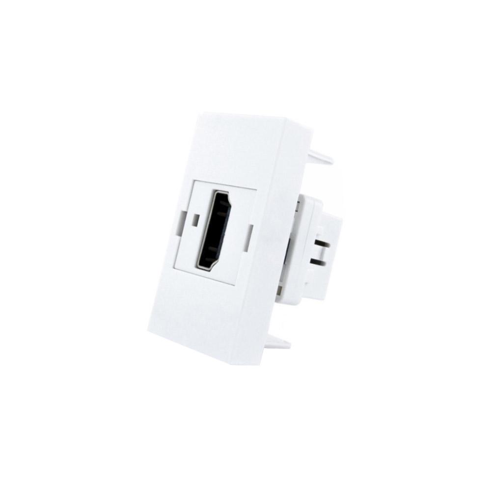 Conector  HDMI blanco para mecanismo de empotrar