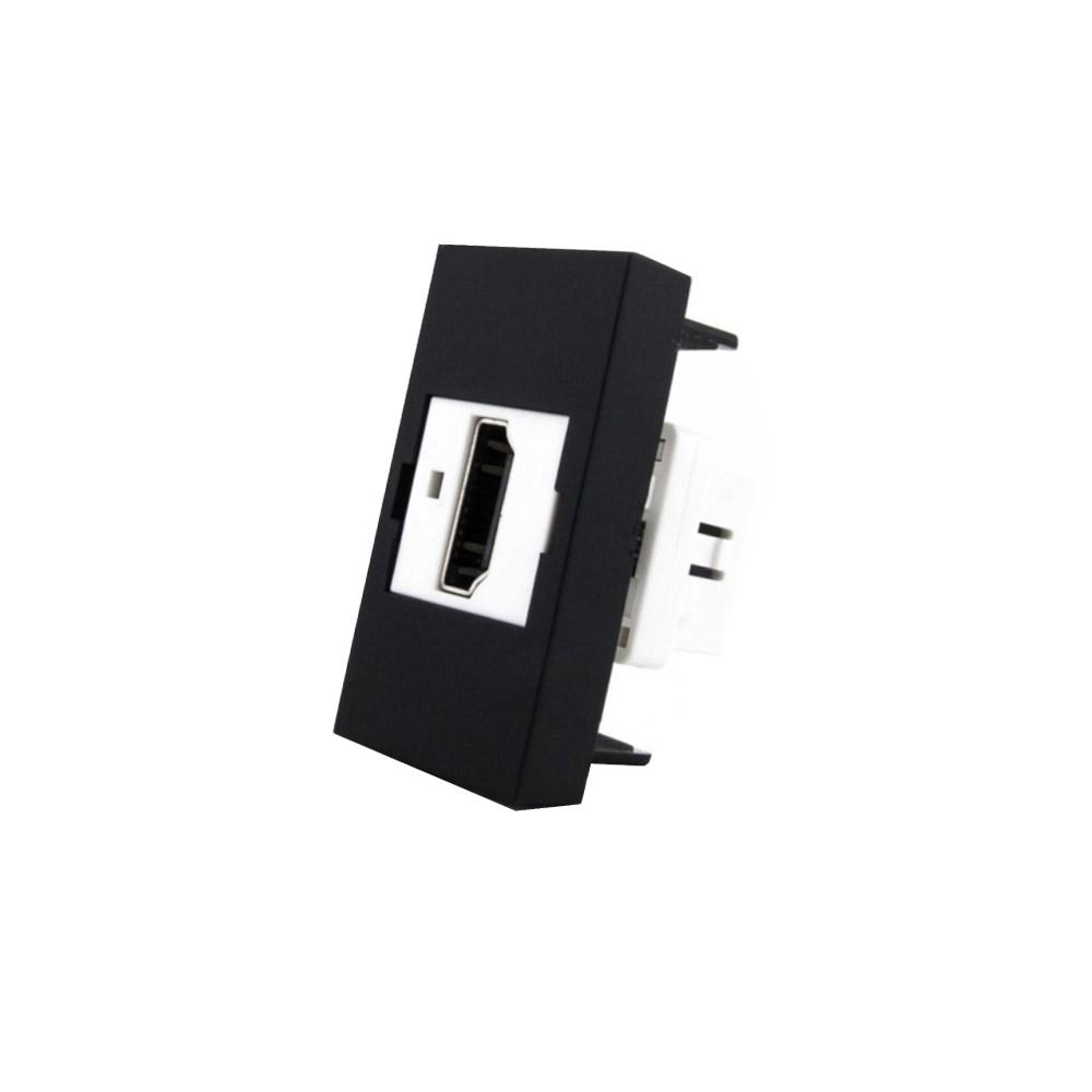 Conector  HDMI negro para mecanismo de empotrar