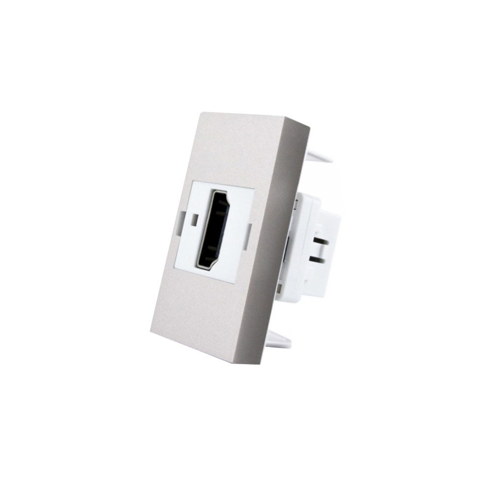 Conector  HDMI gris para mecanismo de empotrar