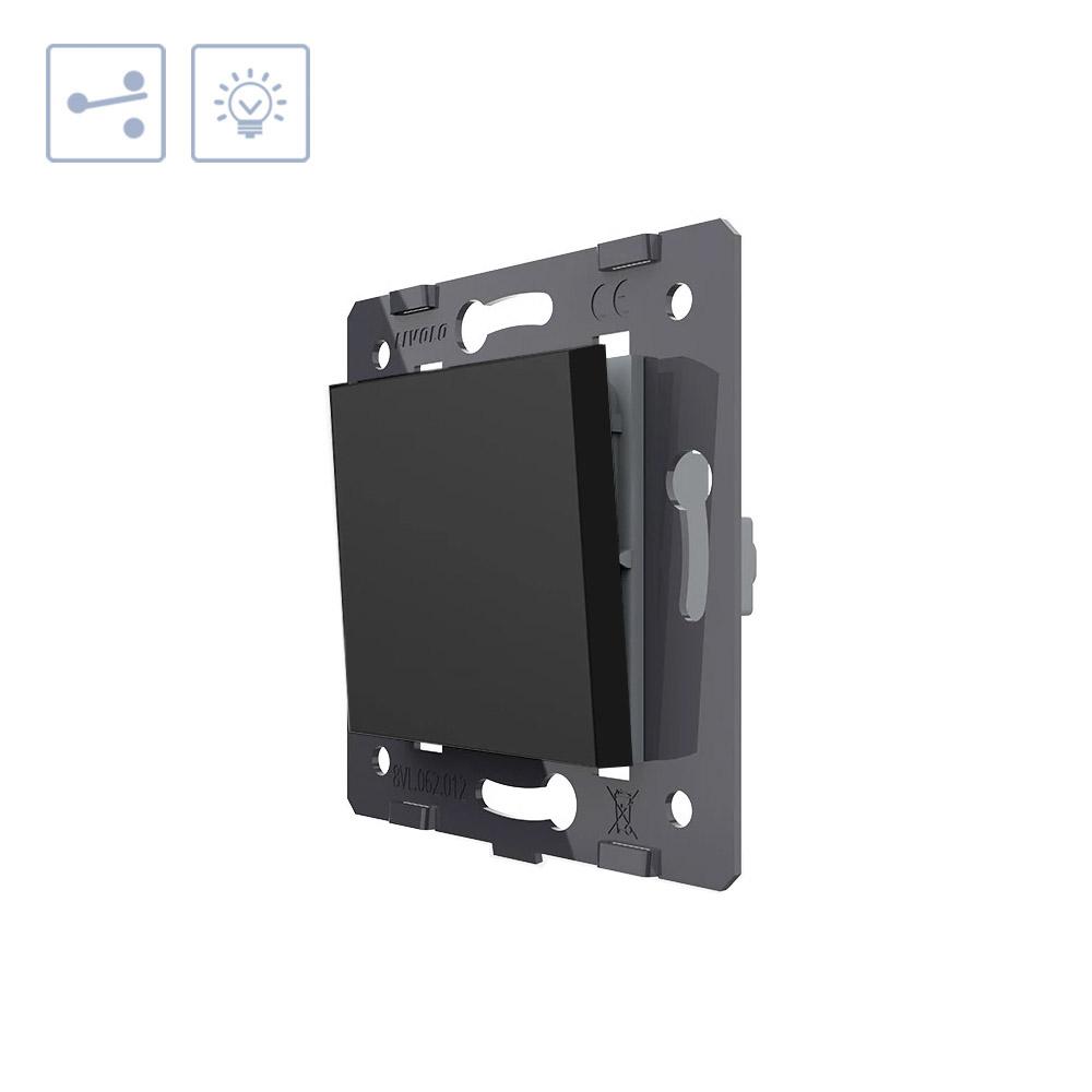 Interruptor Conmutador, negro