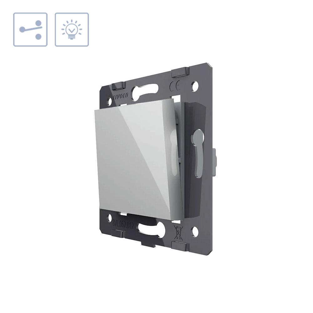 Interruptor Conmutador, gris