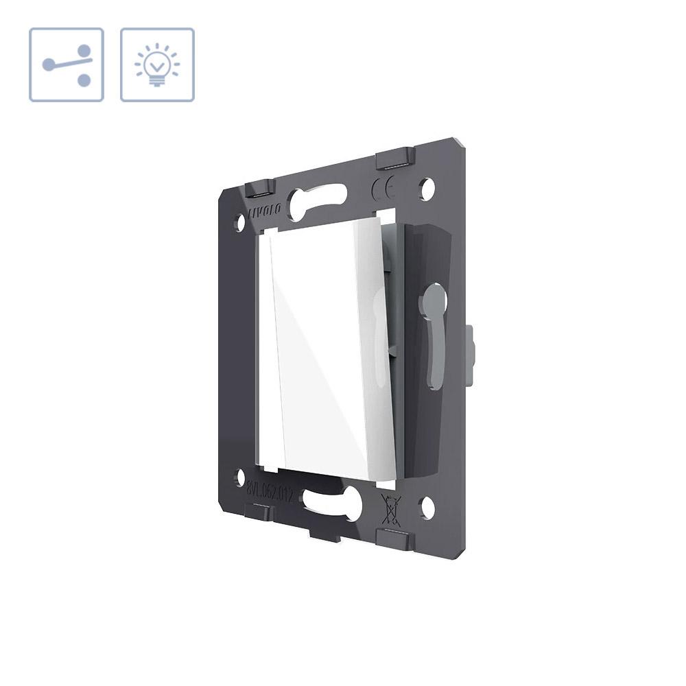 Interruptor Conmutador media tecla, blanco