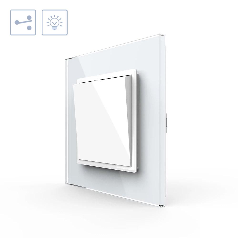 Interruptor Conmutador, marco blanco