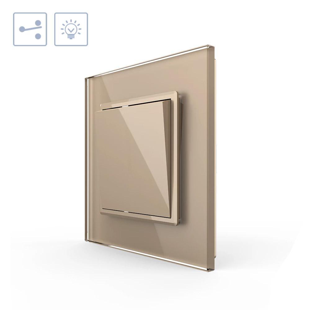 Interruptor Conmutador, marco golden