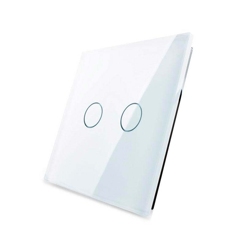 Frontal 1x cristal blanco, 2 botones