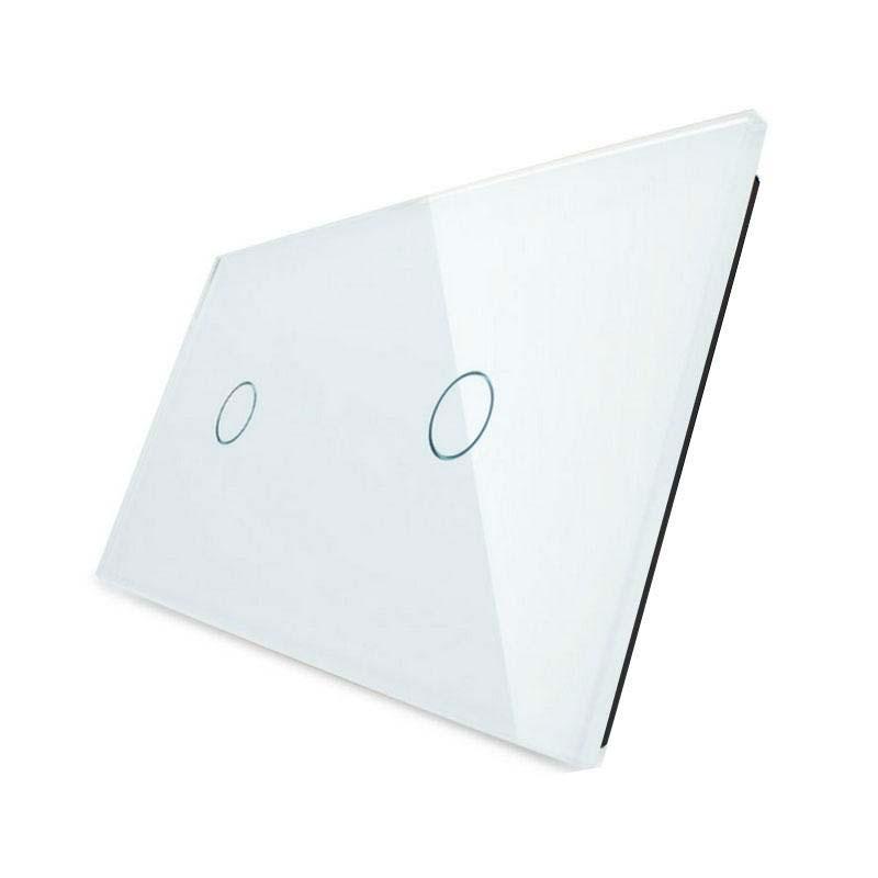 Frontal 2x cristal blanco, 2 botones