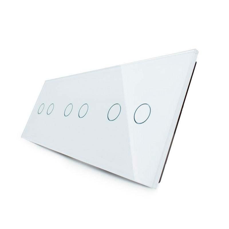 Frontal 3x cristal blanco, 6 botones