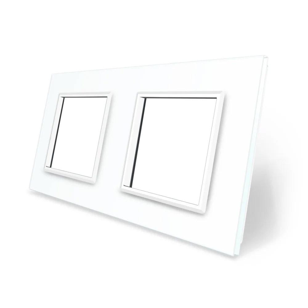 Frontal cristal blanco 2x huecos