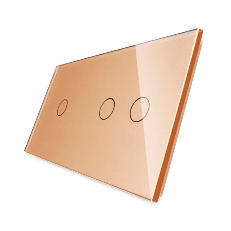 Frontal 2x cristal golden, 3 botones