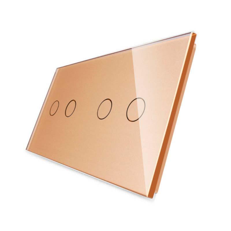 Frontal 2x cristal golden, 4 botones