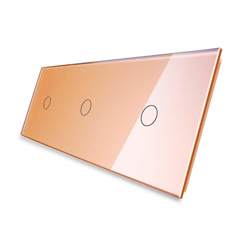 Frontal 3x cristal golden, 3 botones