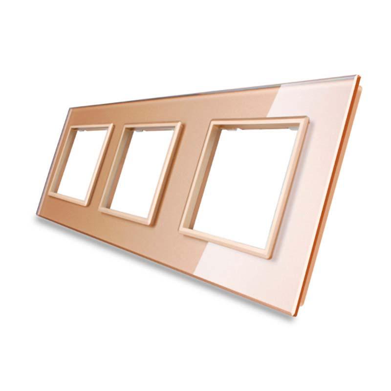 Frontal cristal golden 3x huecos