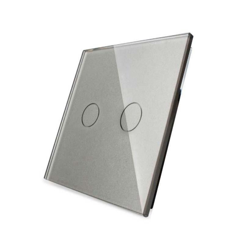 Frontal 1x cristal gris, 2 botones