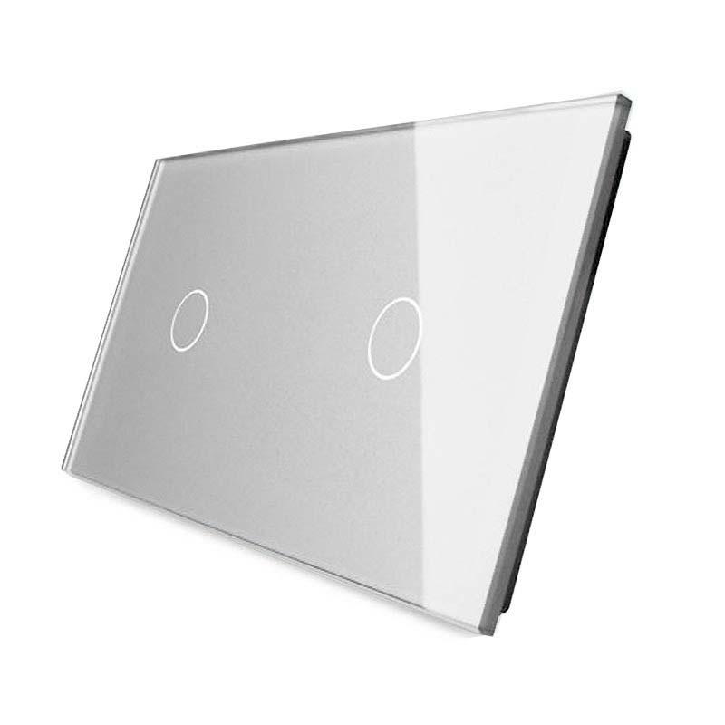 Frontal 2x cristal gris, 2 botones