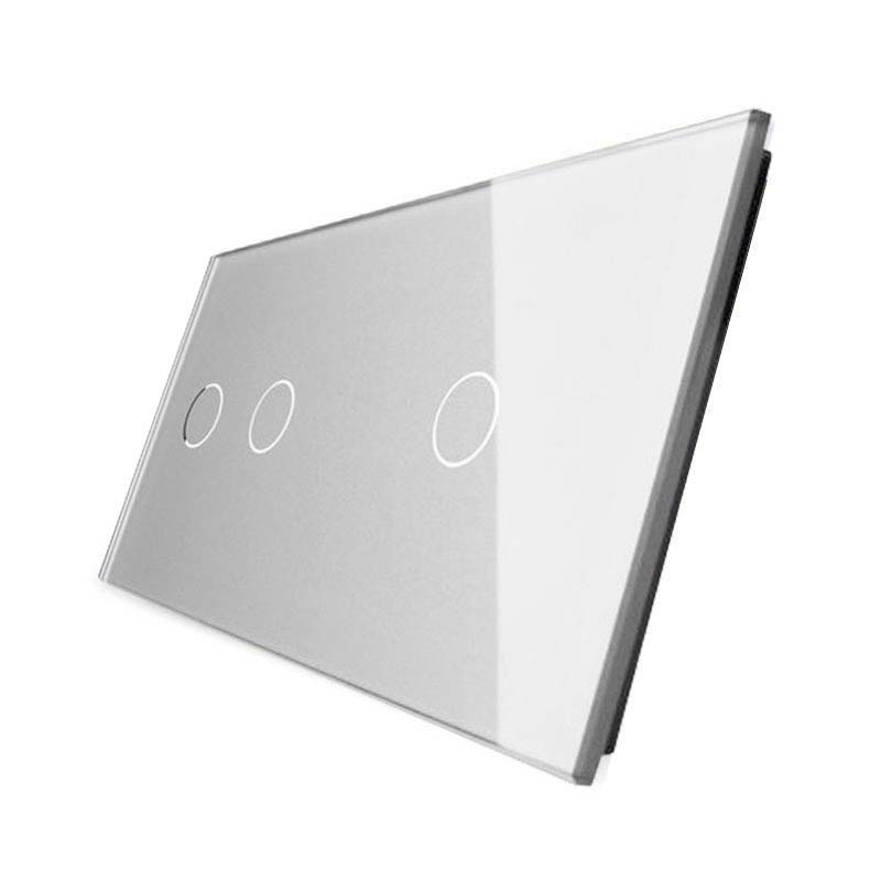 Frontal 2x cristal gris, 3 botones