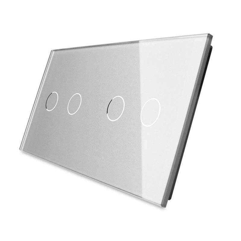 Frontal 2x cristal gris, 4 botones