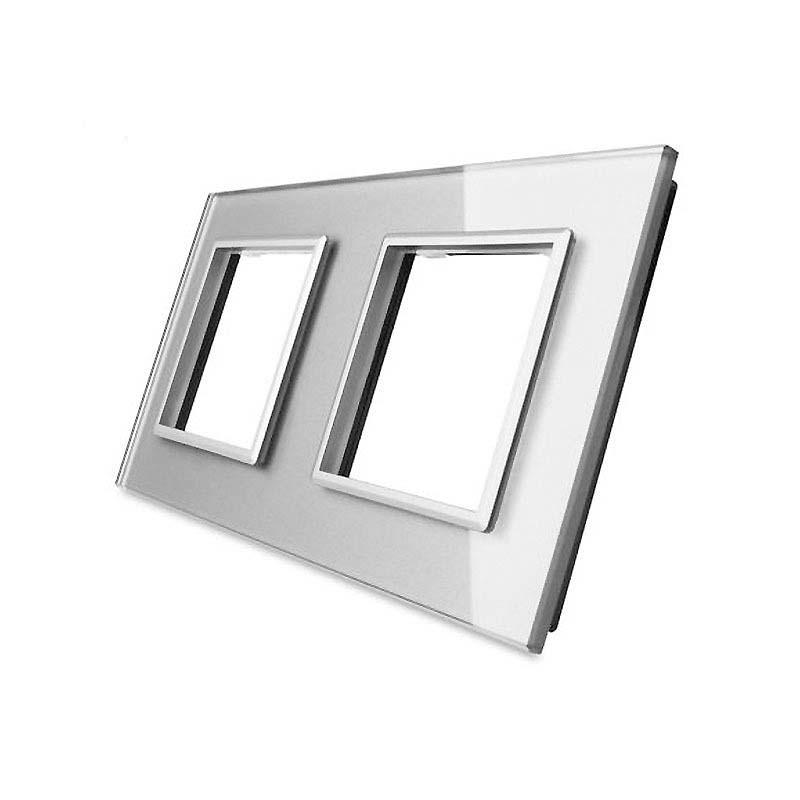 Frontal cristal gris 2x huecos